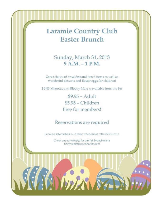 Laramie COuntry Club Brunch