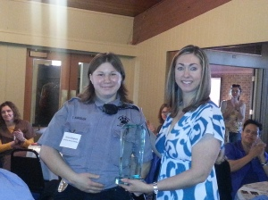 Congratulations to the GML Award: The Laramie Animal Shelter! Teresa Bingham accepted the award on behalf of the entire organization.